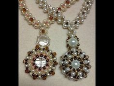 (8) Pearl Wheel Necklace Tutorial - YouTube