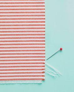 Striped seersucker napkins. #DIY #summer #decor