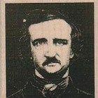 Halloween Rubber stamp  Edgar Allen Poe man stamping holiday goth