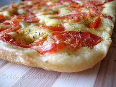 Focaccia salata soffice con pomodori freschi | Dolce e Salato di Miky