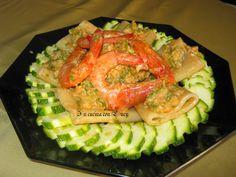 Paccheri con mazzancolle e zucchine. Un piatto ottimo in tutte le stagioni. Semplicissimo e veloce da eseguire,pronto nel giro di mezz'ora. Un ricetta gust