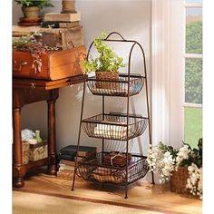 Bronze Triple Basket Floor Rack | Kirkland's