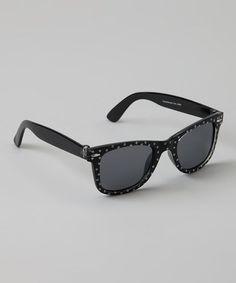 c8467c380e8 Black   White Polka Dot Sunglasses