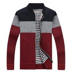 b9137017afc 2019 New Men s Sweaters Autumn Winter Warm Cashmere Wool Zipper Cardigan  Sweaters Man Casual Knitwear Sweatercoat male clothe