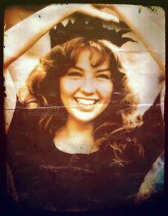 Thalia on the Maria la del Barrio set, 1995