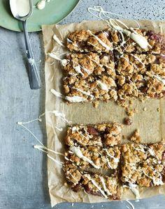 Bill Granger recipe: Date-and-coconut slices - Recipes - Food Drink - The Independent No Bake Granola Bars, Healthy Granola Bars, Breakfast Bake, Breakfast Recipes, Donuts, Bill Granger, Muffins, Coconut Slice, Aussie Food