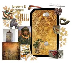 """""""Brown and Bronze"""" by suzannee43 ❤ liked on Polyvore featuring Lipper, integrityTT, EtsySpecialT and TingetrityT"""
