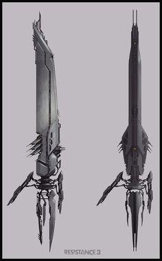 Resistance 3 concept art by Colin Geller.