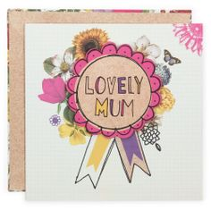 neon bird mothers day rosette from Paperchase
