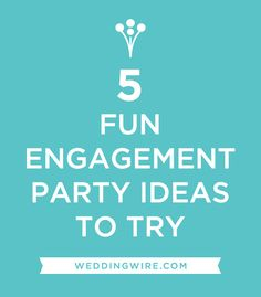 Fun Engagement Party Ideas | #Weddings