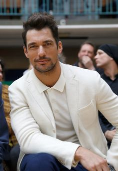 David Gandy attends the Vivienne Westwood show during  London Fashion Week Men's June 2017 collections on June 12, 2017 in London, England. - Front Row & Arrivals: Day 4 - LFWM June 2017