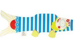 Koinobori (poissons japonais) : Petit Mousse (S)