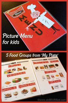 Love this menu idea for kids! Especially great for my nonverbal kids!