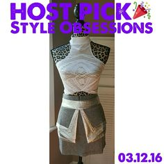 """Gray silver peplum panel mini skirt Brand new, from style brand Whitney Eve, known as the """"Noni"""" skirt. Size 2, equivalent to a small. 100% polyester. The front is so eye-catching with heather gray detailed with shimmering silver metallic fabric. Whitney Eve Skirts Mini"""