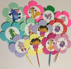 Dora The Explorer Cupcakes Birthdays Birthday Party Ideas And Cake - Dora birthday cake toppers