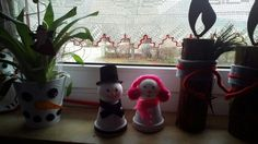 Mrs and Mr snowman