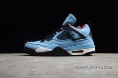 c77fa7ce5d8026 Air Jordan 4 X Travis Scott Cactus AJ4 Blue Suede Collaboration 308497-406  Men Shoes Discount