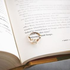 We love this Harry Potter engagement ring shoot idea! #BrilliantEarth
