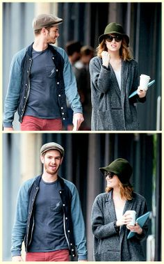 Andrew Garfiend and Emma Stone out and about in New York City, May 21st, 2014