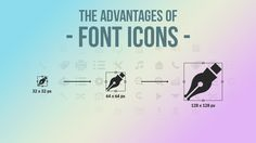 Advantages of using #font #icons in design projects