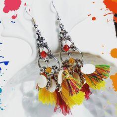 envie de #couleur et de #soleil #idees #bouclesoreilles #printemps #été #2017 #bijoux #lescreasdesandrine www.lescreasdesandrine.fr Tassel Necklace, Tassels, Drop Earrings, Jewelry, Envy, Sun, Boucle D'oreille, Spring, Color