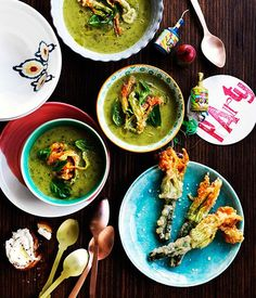 Australian Gourmet Traveller recipe for Lake HOuse& zucchini and basil soup. Chef Recipes, Raw Food Recipes, Italian Recipes, Soup Recipes, Basil Recipes, Basil Soup Recipe, Food Photography Tips, Winter Soups, Recipe Search