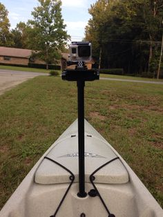 Kayak Fishing - GoPro sail mount for Hobie Revo. $5 in parts from Lowe's.