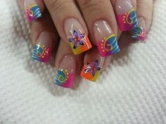 acrilicos uñas mejores equipos - Page 6 of 11 - fashion-style.es Great Nails, Cute Nail Art, Beautiful Nail Art, Gorgeous Nails, Cute Nails, Spring Nail Art, Spring Nails, Summer Nails, Acrylic Nail Designs