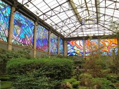 Stained glass botanical garden