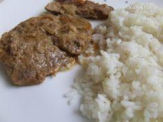 Šťavnaté pečené karé na horčici Grains, Rice, Red Peppers, Cooking, Seeds, Korn