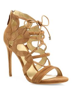 Alexandre Birman Strappy suede cage sandals