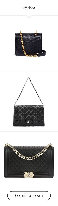 """""""väskor"""" by ylva-nordqvist-runesson ❤ liked on Polyvore featuring bags, handbags, shoulder bags, bedrock, leather handbags, quilted shoulder bags, leather shoulder bag, leather purses, leather shoulder handbags and black"""