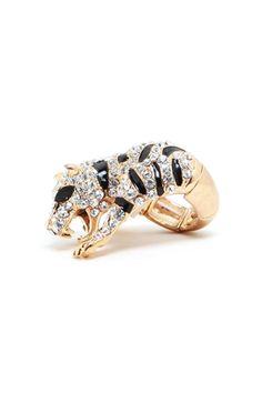 Crawling Panther Stretchy Ring