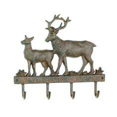 Cast Iron Deer Wall Key Rack Holder 4 Hooks Coat Hook Home Decor: Moose Welcome HookMeasures: Cast iron moose hook, perfect for any lodge decor. Measures 6 x 7 x 1 Decorative Wall Hooks, Iron Holder, Key Rack, Lodge Decor, 5 W, Iron Wall, Coat Hooks, Christmas Wallpaper, Cast Iron
