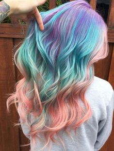 40 Cool Pastel Hair Colors in Every Shade of Rainbow Purple Teal And Pink Balayage Hair Hair Color Pastel Pastel Hair Ideas You'Hair Color Cool Blue 19 I Hair Dye Colors, Ombre Hair Color, Hair Color Balayage, Cool Hair Color, Teal Hair, Cute Hair Colors, Hair Colour Ideas, Vivid Hair Color, Ombre Style