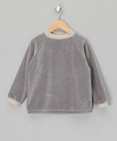 Grey Velour Long Sleeve Top - Infant, Toddler & Kids by Apunktchen