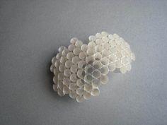 Honeycomb Brooch - organic design; contemporary jewellery // Ase-Marit Thorbjornsrud