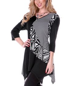 This patchwork tunic is nice a flowy with the bandana style bottom.   Would be cute in other colors as well.