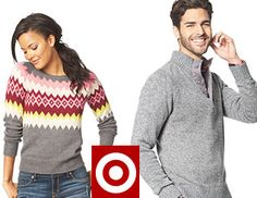 target coupons 20% off , sweaters for your family includes kids,men and specially designed apparels for women. Buy one and get another one with 50% off at target online store, choose best suitable sweater for your body language and get up to 20% discount on it, very pleasant offers going right now on sweater sale at target.