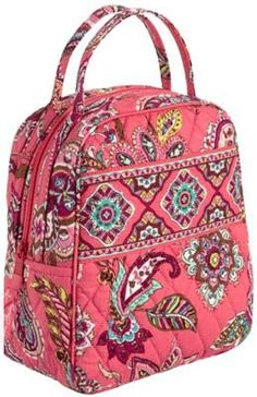 "vera bradley lunch box...☺ just baught this in ""limes up"" for $8.50!! (20$ off 20$ or more promo code) ☜(˚▽˚) Maybe in plum crazy though"