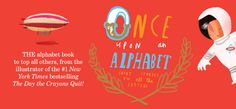 Once Upon an Alphabet by Oliver Jeffers is a creative tour de force Children's book from A through Z. Oliver Jeffers, Alphabet Book, 1 News, New York Times, Childrens Books, Illusions, Banner, Lettering, Reading