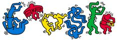 Google Doodle on Keith Haring's Birthday