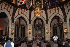 Cinderella's Royal Table - inside the 2nd floor of Cinderella's Castle WDW's Magic Kingdom.  - A medieval banquet hall.  The girls loved it!