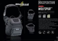 Maxpedition Wolfspur At Military Outdoor Survival, Concealed Carry, Tactical Gear, Crossbody Shoulder Bag, Airsoft, Edc, Cloths, Hobbies, Military