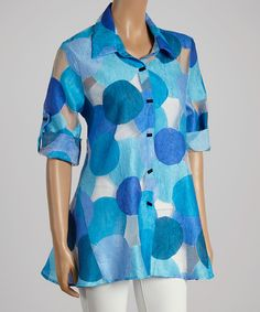 Another great find on #zulily! Polka Dot Button-Up - Women & Plus by Come N See #zulilyfinds