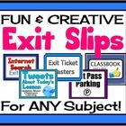 """Exit passes are an effective type of formative assessment as they give you a quick """"snapshot"""" of what the student has understood at the end of your..."""