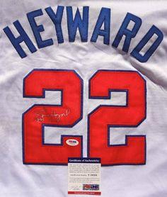 JASON HEYWARD SIGNED ATLANTA BRAVES JERSEY PSA/DNA . $240.00