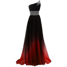 BEALEGAN Lady Women's One Shoulder Gradient Prom Evening Dresses Ombre... ($90) ❤ liked on Polyvore featuring dresses, one shoulder prom dresses, ombre dresses, gradient dress, single shoulder dress and night out dresses