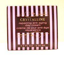 Crystalline Repairing Anti Aging Day Cream - 1.7 fl. oz. by Crystalline. $19.95. Regular application of this advanced cream provides radiant and healthy looking skin.. Enriched with nourishing Dead Sea Minerals.. Crystalline Repairing Anti Aging Day Cream - 1.7 fl. oz.. Made in Israel.. 1.7 fl. oz. - 50 ml. Made in Israel.  Regular application of this advanced cream provides radiant and healthy looking skin.  Enriched with nourishing Dead Sea Minerals.  Helps protect ...