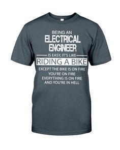 Electrical Engineer Dad To Be Shirts, Shirts For Girls, Cool Shirts, Engineer Shirt, Custom Printed Shirts, Boyfriend Shirt, Thick Thighs, Way Of Life, Classic T Shirts
